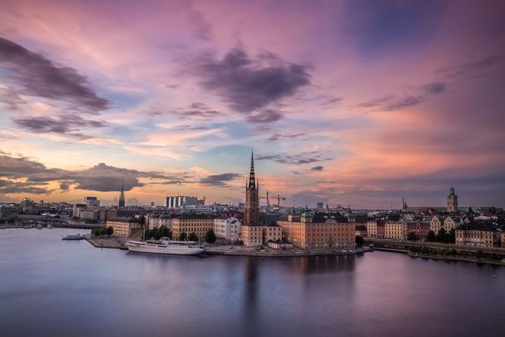 building landscape of Stokholm, Sweden
