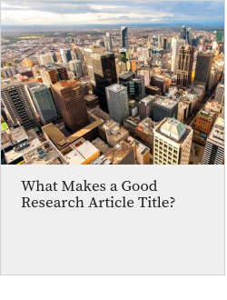 What Makes a Good Research Article Title?