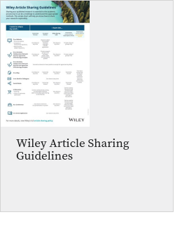 Wiley Article Sharing Guidelines