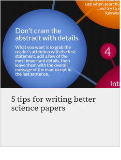5 tips for writing better science papers