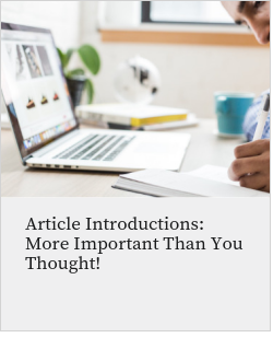 Article Introductions: More Important Than You Thought!