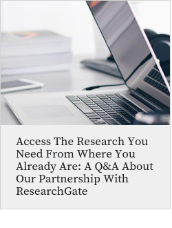Access the research you need from where you already are: a Q&A about our partnership with ResearchGate