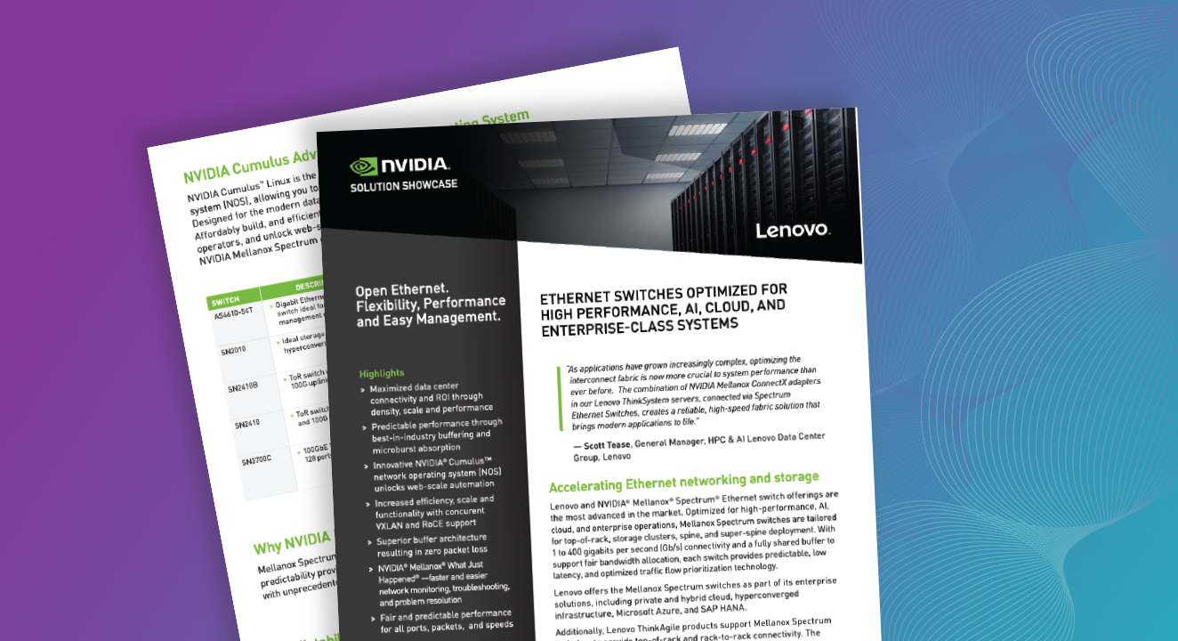 NVIDIA + Lenovo | Ethernet Switch Solution Brief