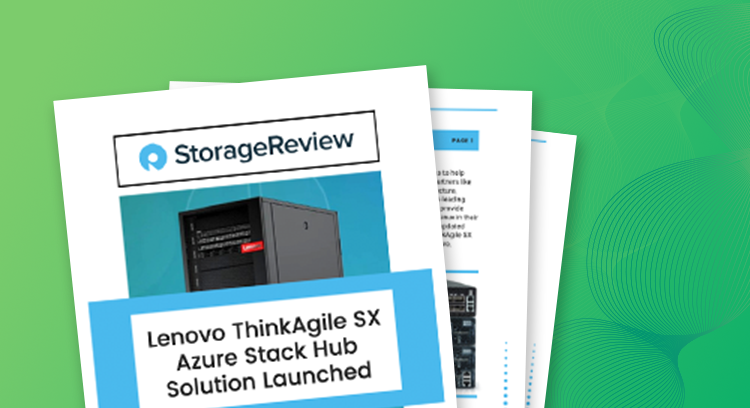 ThinkAgile SX for Microsoft Azure Stack Hub Storage Review