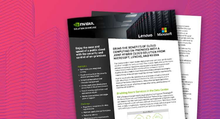 Benefits of a joint hybrid cloud solution from Microsoft, Lenovo and NVIDIA
