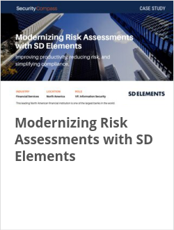 Modernizing Risk Assessments with SD Elements