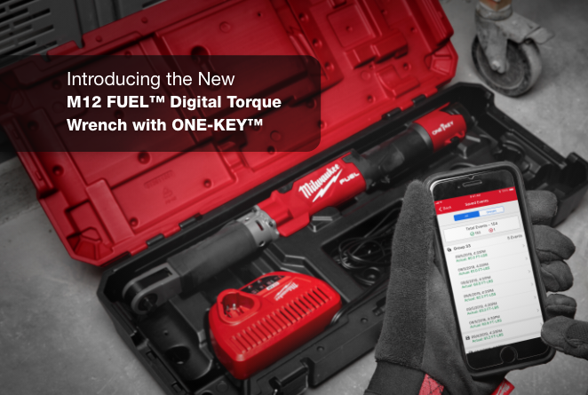 The first motorized, battery powered digital torque wrench, from Milwaukee Tool