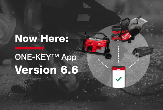 The 6.6 One-Key app supports MX FUEL equipment and M18 drain cleaner