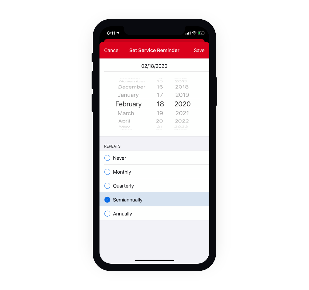 Milwaukee One-Key, a construction inventory management app, lets you set service reminders for all your tools and equipment