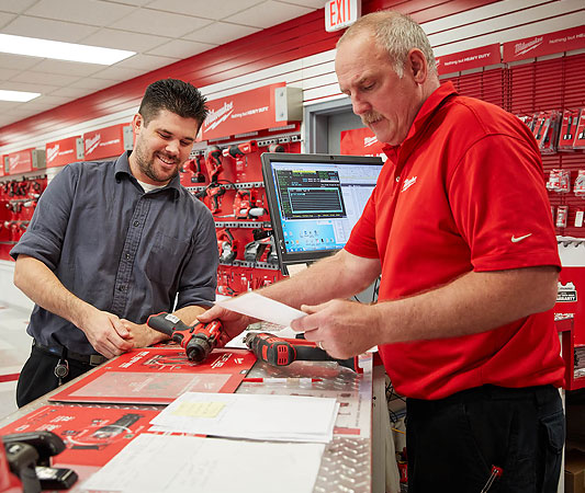 Milwaukee Tool service center representatives are eager to help customers