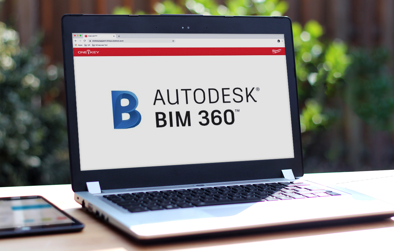 Laptop computer open on desk to Autodesk BIM software