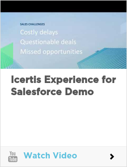 Icertis Experience for Salesforce Demo
