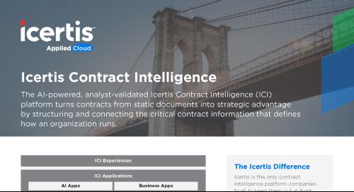 The Icertis Contract Intelligence (ICI) Platform - Datasheet