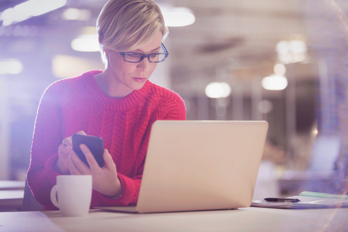 An email marketer looking at a laptop | RRD