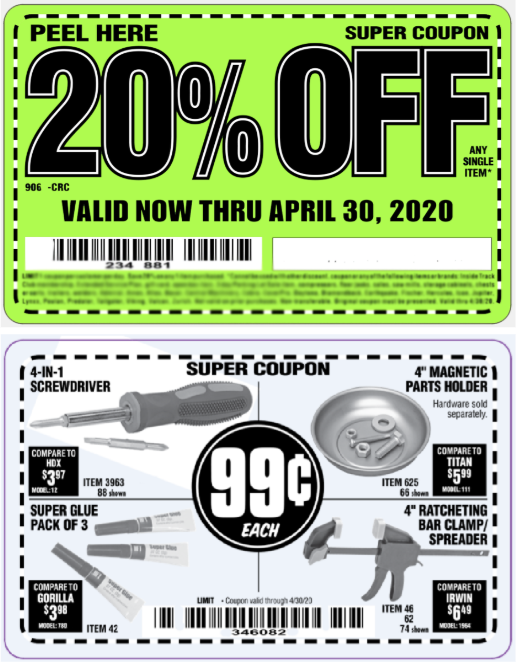 examples of coupons