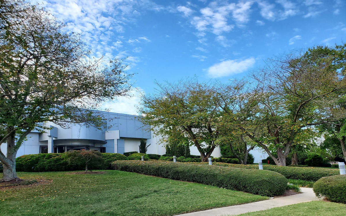 exterior shot of the front of RRD's packaging facility in Durham North Carolina