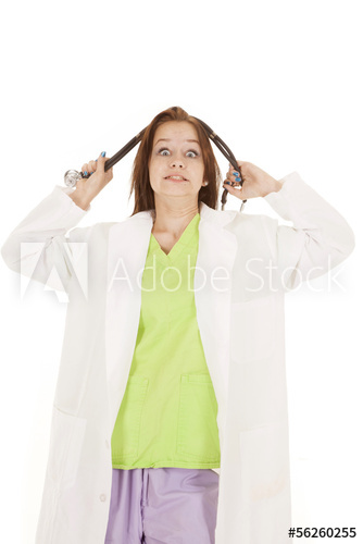 Doctor going crazy in bad clothes