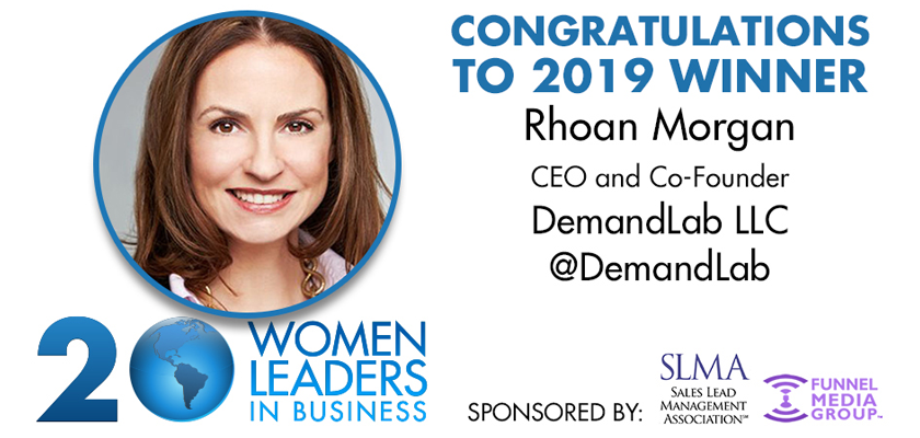 Rhoan Morgan recognized as one of 20 Women to Watch in 2019