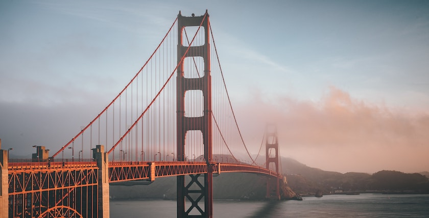Photo of the Golden Gate Bridge in San Francisco, the city where the Golden Bridge Awards ceremony takes place.