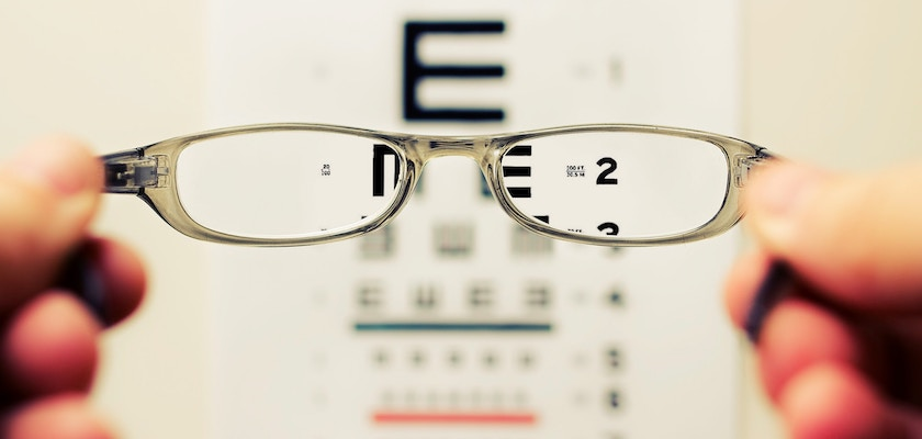 Eye vision test representing looking into 2020 marketing trends