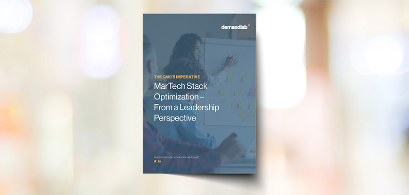 The CMO's Imperative: MarTech Stack Optimization Report by DemandLab