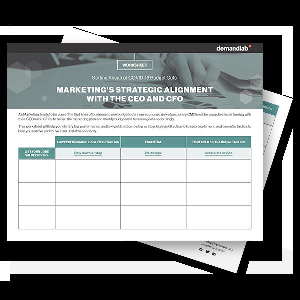DemandLab's Cut, Accelerate, Decision Matrix Worksheet