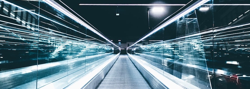 Glass moving walkway moving towards the future for marketing-led customer experience