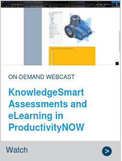 KnowledgeSmart Assessments and eLearning in ProductivityNOW