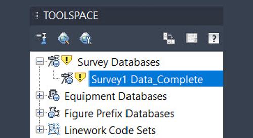 Civil 3D 2020 Survey Database Update