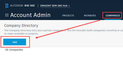 BIM 360 Design: Inviting outside users to your company project