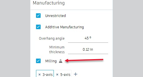 Generative Design Update: 3 & 5 axis milling