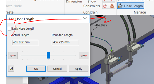 New Lock Hose Length Feature in Inventor Tube and Pipe 2019