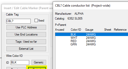 Adding Color Convention for New Cables in AutoCAD Electrical