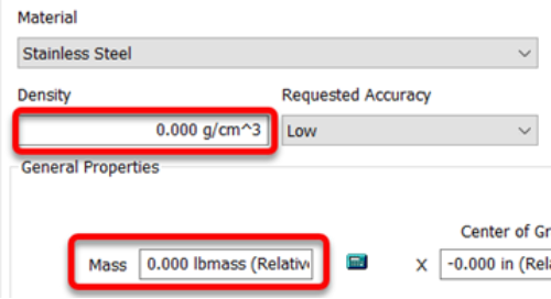 """Inventor Part Density/Mass Shows a """"0.000"""" Value After Upgrade"""
