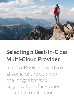 Selecting a Best-In-Class Multi-Cloud Provider