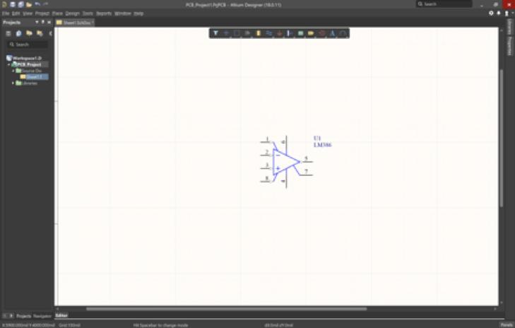 Creare uno schematico di un PCB
