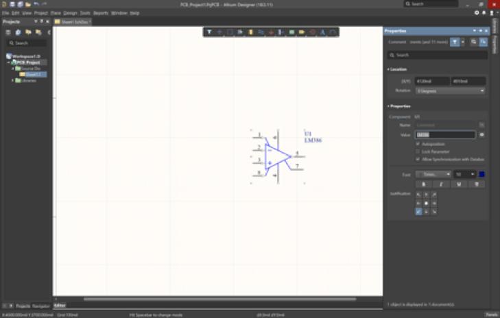 Creazione di uno schematico per PCB