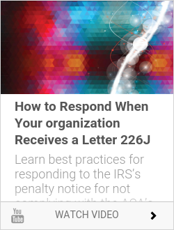 Webinar - How to Respond When Your organization Receives a Letter 226J