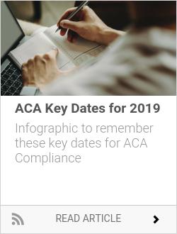 ACA Key Dates for 2019
