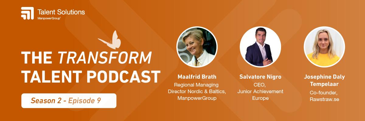 Headshots of 3 podcast participants