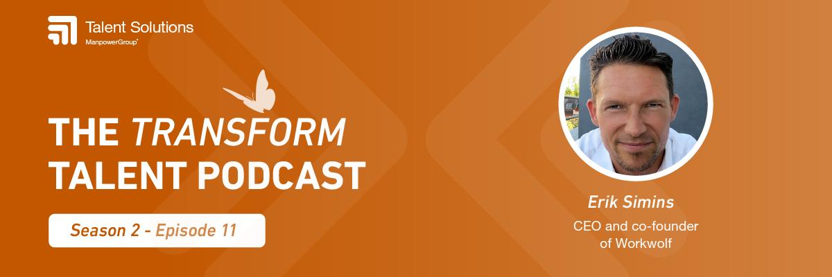 podcast banner with headshot of Erik Simins