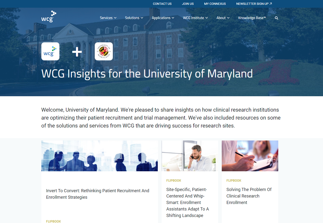 Content destination personalized for the University of Maryland