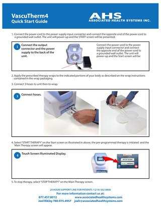 VascuTherm4 Quick Start Guide