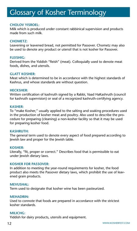 Kosherfest Directory And Buyers Guide 2014