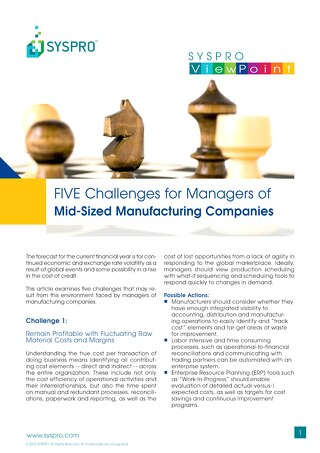 Overcoming Challenges in Manufacturing Companies