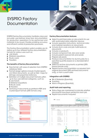 Factory Documentation