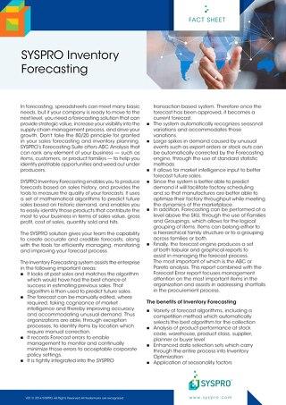 Inventory Forecasting