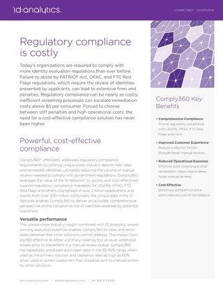 Comply360® Datasheet