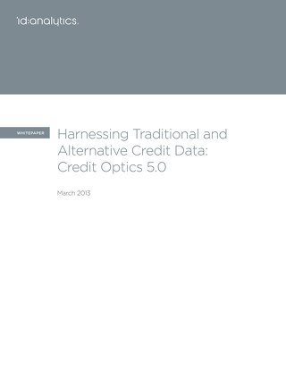 Harnessing Traditional and Alternative Credit Data
