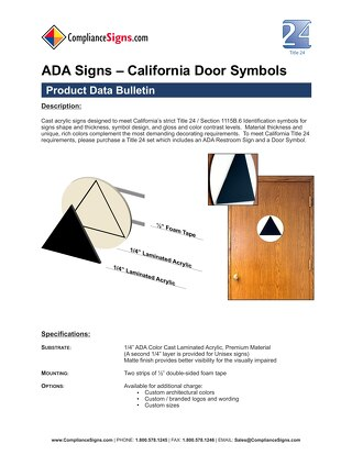 California Title 24 Restroom Door Symbols